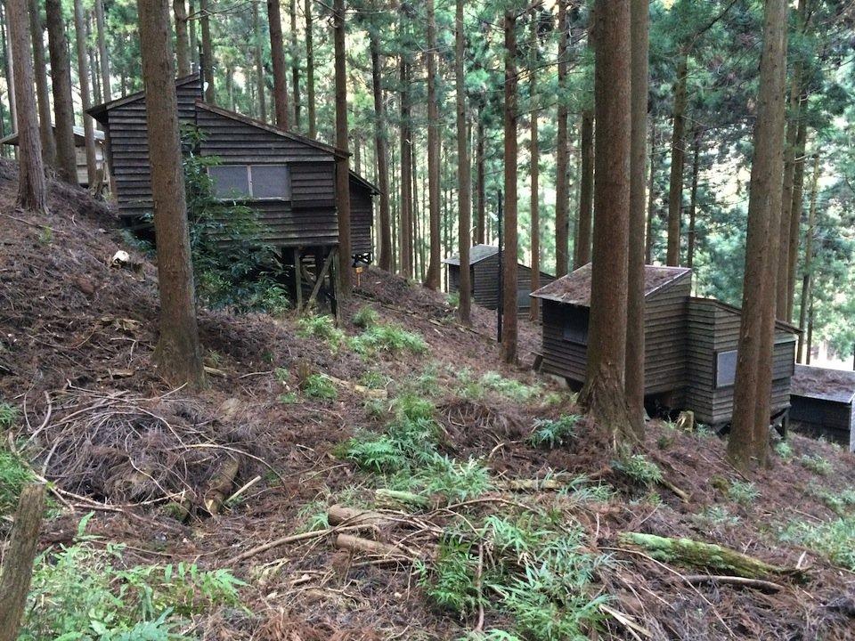 日向キャンプ場のコテージ