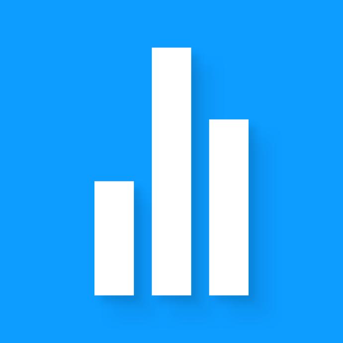 my data managerの青いアイコンです