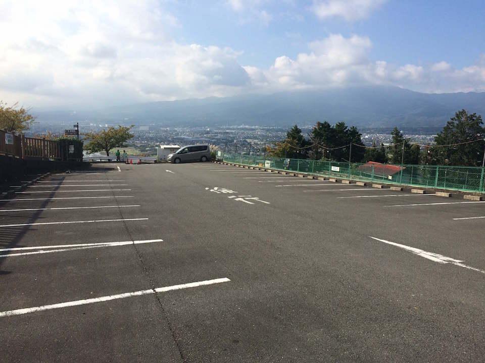 西平畑公園の駐車場