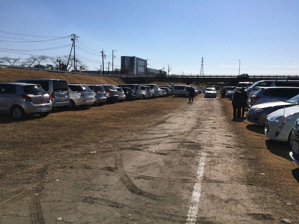 酒匂川臨時駐車場