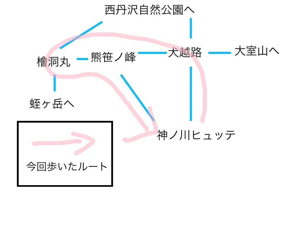 檜洞丸 周辺マップ