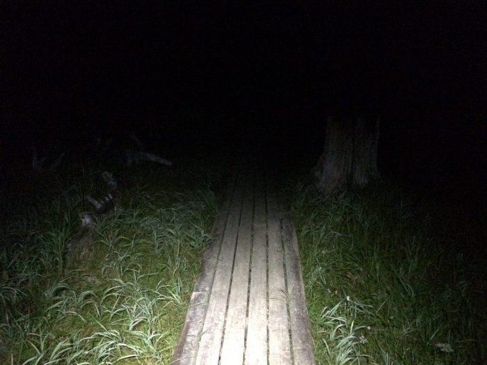 暗闇の中出発