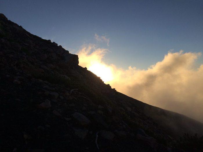 山頂の日の出