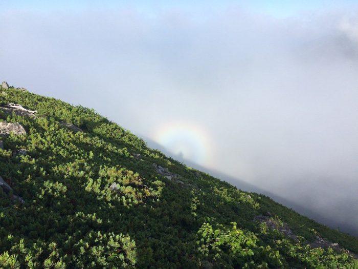 聖岳のブロッケン現象