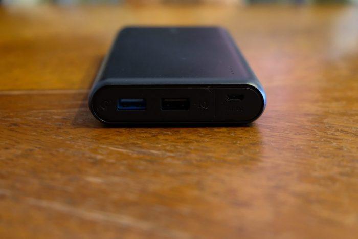 モバイルバッテリーのUSB端子