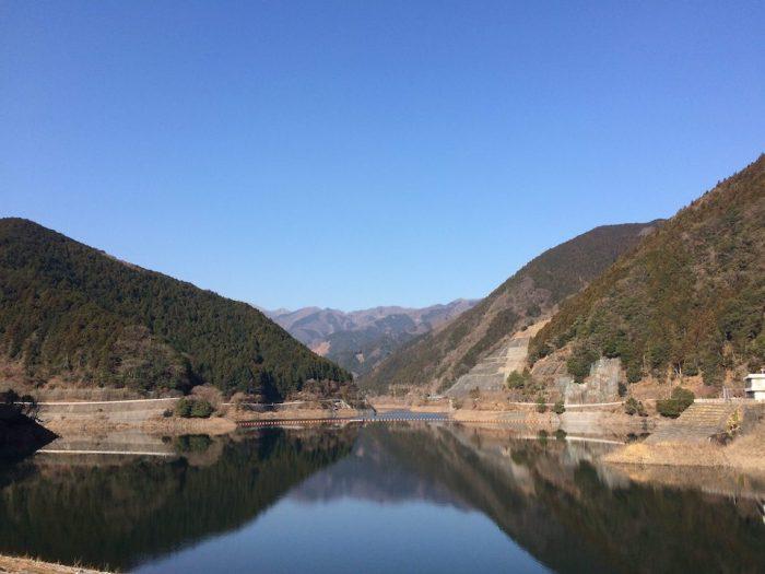 名栗湖の景色
