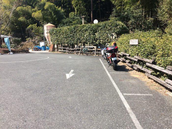 さわらびの湯の自転車ラック