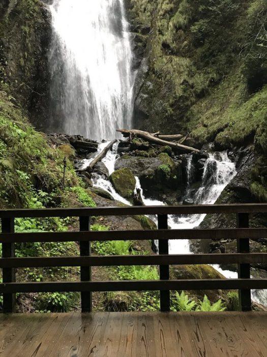 回顧の滝の滝見台