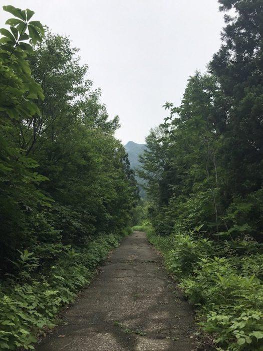 登山口から前岳を望む