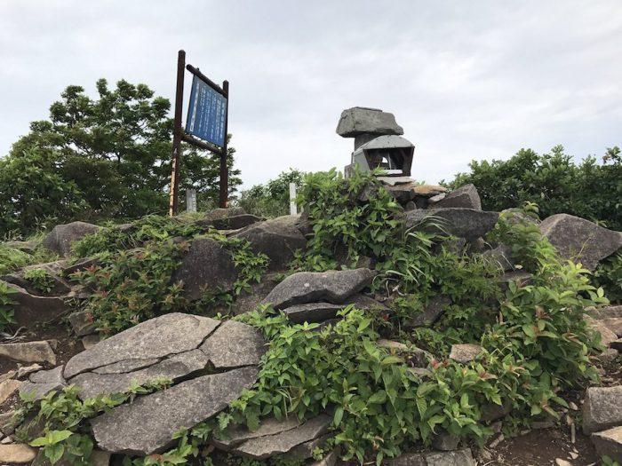 浅草岳の山頂
