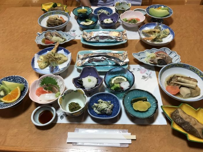 浅草山荘の夕食