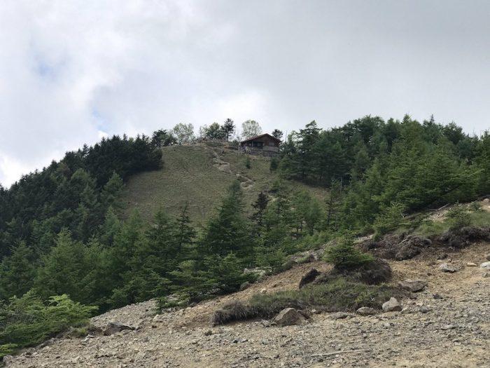 雲取山の山頂を望む