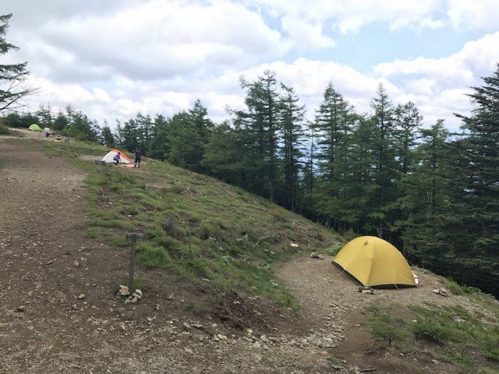 雲取山のテント場