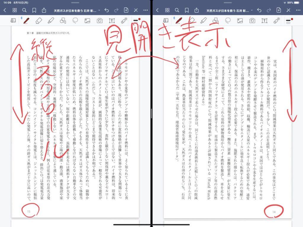 Goodnotes 5の2画面表示で見開きを実現