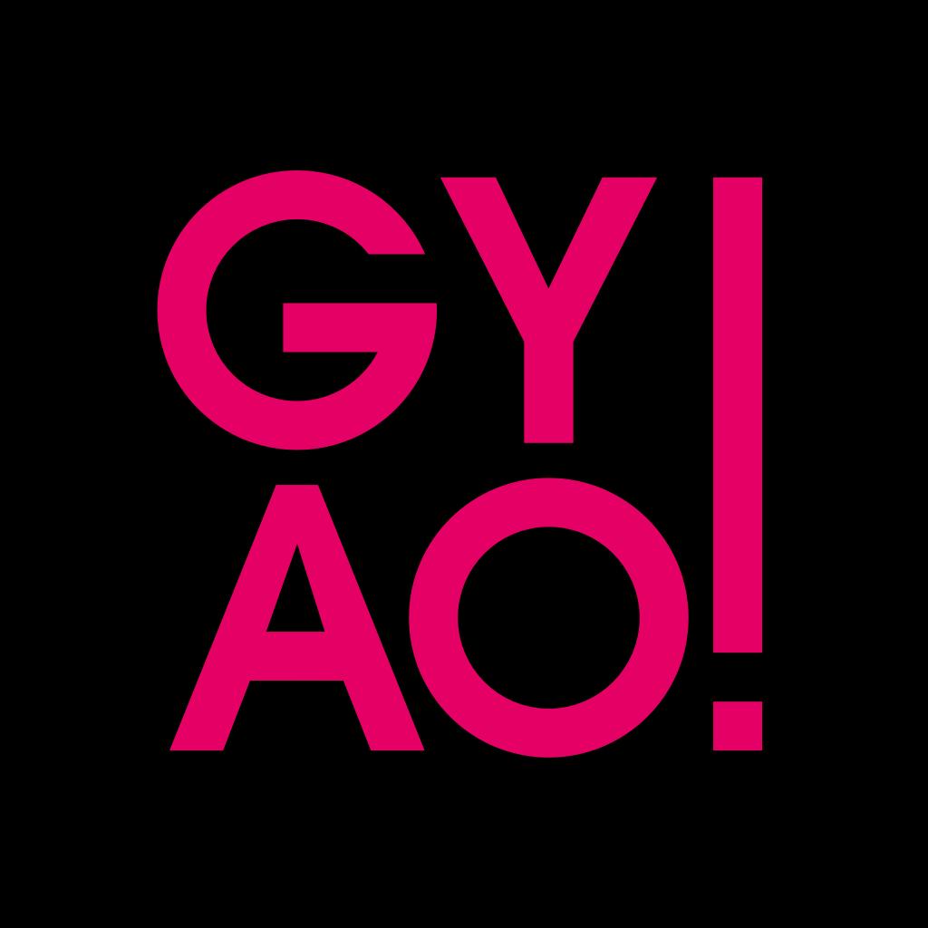 gyaoの黒いアイコン