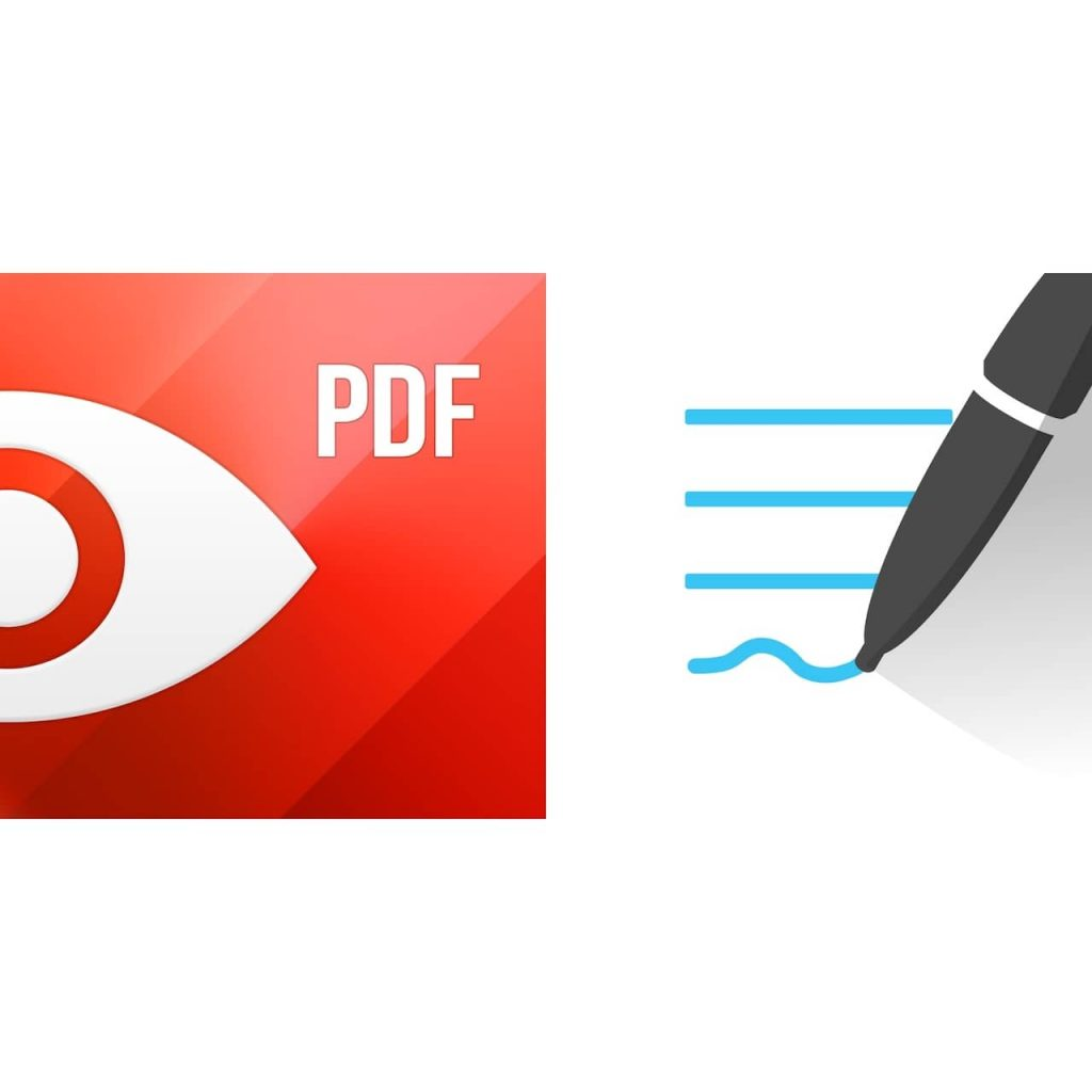 pdf expertの赤いアイコンとGoodNotes 5の白いアイコンが並んでいます