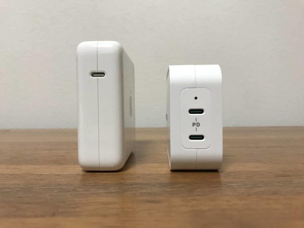 RP-PC128とMacbook Pro純正の充電器