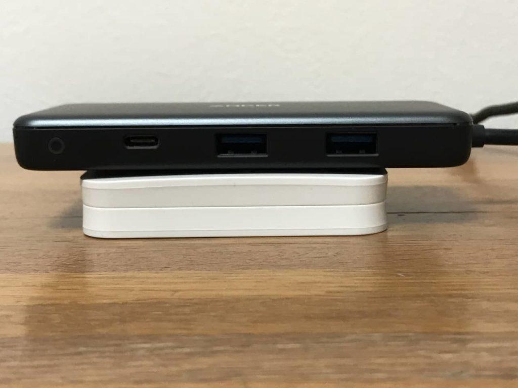 Anker 7-in-1 USB-Cハブの入出力端子